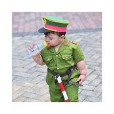 Hình ảnh Bộ quần áo công an hình sự trẻ em - XANH