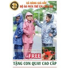 Hình ảnh Bộ Quần áo mưa Trẻ em Cao Cấp : Siêu bền - Siêu Nhẹ - Tặng bé FREE SPINER