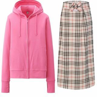 Bộ sản phẩm áo khoác chống nắng nữ tặng kèm khẩu trang + chân váy chống nắng 2 lớp Dma store ( Hồng) thumbnail