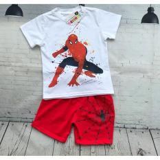 Hình ảnh Bộ thun bé trai hình siêu nhân nhện từ 23-30kg