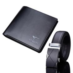 Bộ ví da và thắt lưng da nam HANAMA TG01