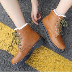 Mã Khuyến Mại Boots Nữ Cao Cổ Chất Da Lot Long Ấm Ap Va Cực Thời Trang Mau Da Bo Trong Hà Nội
