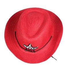 Giá bán Cậu bé Gái Độc Đáo Rơm Bện Hat Cap Da Bò Ngôi Sao Táo Topee (Quốc Tế)
