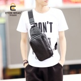 Brand Design New Korean Men S Handbag Fashion Knit Chest Bag Leisure Small Chest Bag Fashion Old Sch**l Backpack Black Intl Nguyên