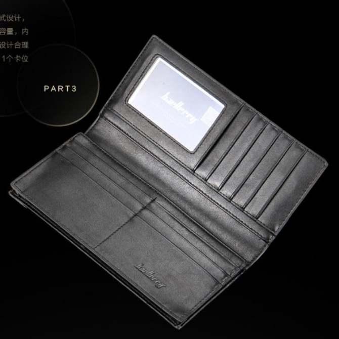 BYT Baellery Korean Style Full Lattice Multifunctional Long Men Leather Wallet CBM730-3 (Black