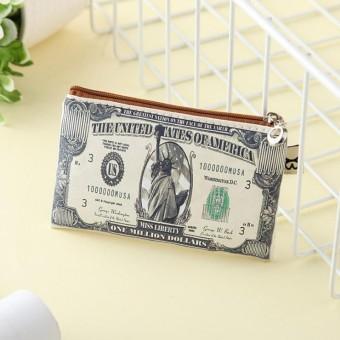 Vải bố Tiền Giấy Euro Hóa Đơn Cho nam Đựng Thẻ Ví Túi Ví Cầm Quà Tặng-intl