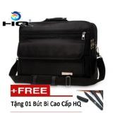 Cặp đựng laptop 14 inch oxford HQ 82TU05 (đen) tặng 01 bút bi cao cấp HQ