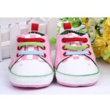 Cartoon Frog Baby Boy Girl Canvas Shoes Casual Soft Sole Sneakers Toddler Slip PINK - intl