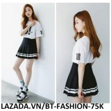 Chân Váy Ngắn Xếp Ly Lưng Cao Thời Trang Hàn Quốc Mới - BT Fashion VA025 (PVĐ)