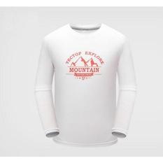 Hình ảnh Child Outdoor Sport Long Sleeve Hiking Mountain Active T Shirt O Neck Kids Boy Climbing Tee Breathable Tops - White - intl