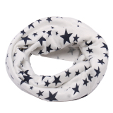 Children Cotton Scarves Shawl Autumn Winter Knitting Kerchief (White) - intl