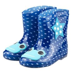 Giá bán Children Spring Autumn Winter Boys Girls Baby Kids Rhino Candy Color Cute Rain Boots Waterproof Shoes - intl