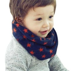 Children Trendy Chic Allover Star Print Scarf - intl