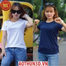 Combo 2 áo thun phông nữ 100% cotton, xưởng may áo thun nữ giá sỉ tphcm