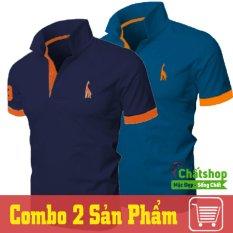 Mã Khuyến Mại Combo 2 Ao Thun Polo Hươu Xanh Đen Xanh Cong Chất Shop