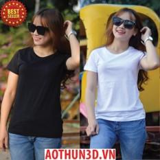 Combo 2 áo thun t-shirt nữ 100% cotton, xưởng may áo phông nữ giá sỉ tphcm