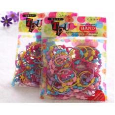 Hình ảnh COMBO 2 túi Buộc tóc 100 cái Siêu Dễ Thương