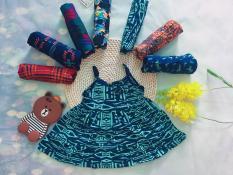 Combo 2 Váy cotton 2 dây cho bé gái 2 tuổi 10-12kg size 2 ( Mầu sắc bất kỳ)