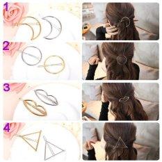 Combo 3 kẹp tóc thời trang Hàn quốc (Số 1, 2, 4) KAH42 (Mầu bạc)