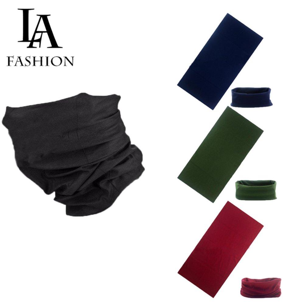 Combo 3 Khăn đa năng nam nữ thể thao dành cho phượt thủ - Chất liệu sợi siêu mịn polyester - Kích thước 25x48 cm ZAVANS (Xanh đen, xanh rêu, đỏ đô)