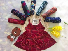 Combo 4 Váy cotton 2 dây cho bé gái 3 tuổi 12-14kg size 3( Mầu sắc bất kỳ)