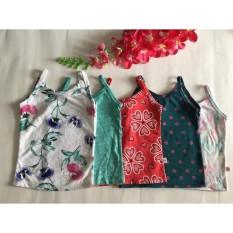 Giá bán combo 5 áo 2 dây bé gái - hãng xuất dư size 4 cho bé từ 15-20kg