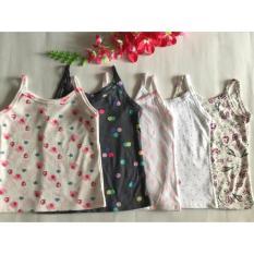 Giá bán combo 5 áo 2 dây bé gái - hàng lên từ vải xuất dư size 5 cho bé từ 19-25kg