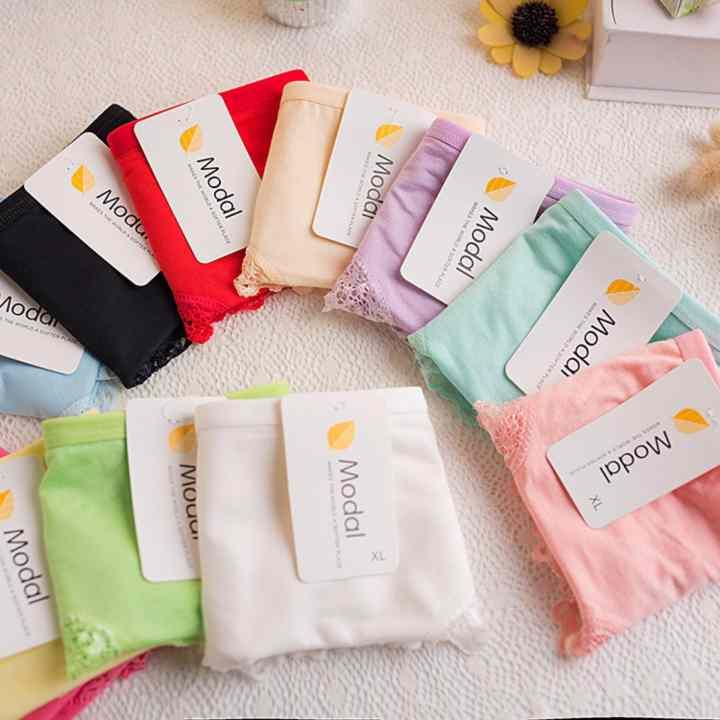 Combo 5 quần lót nữ cotton viền ren cao cấp Modal + Tặng kèm 1 thẻ tích điểm Giá tôt 360