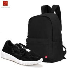 Bán Mua Trực Tuyến Combo Balo Classical Bll002Ba Giay Sneaker Nữ Gn020 Đen Cb059