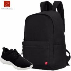 Combo Balo Cylinder Laptop Bll002Ba Giay Sneaker Gs062Ba Đen Cb019 Rẻ