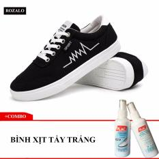 Ôn Tập Combo Giay Sneaker Nam Rozalo Rmg3901B Đen 1 Binh Xịt Nước Tẩy Trắng Va Lam Sạch Giay Rozalo Shoe Waxes