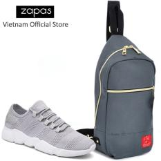 Bán Combo Giay Sneaker Nam Zapas Gs081 Mau Xam Tui Messenger Dcg028 Xam Cb295 Zapas