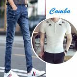 Cửa Hàng Combo Quần Jeans Va Ao Thun Viền La Zenko Cb2 Men Quan 800011 Rb Ps Men Top 800006 W Trong Hồ Chí Minh