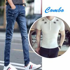 Giá Bán Combo Quần Jeans Va Ao Thun Viền La Zenko Cb2 Men Quan 800011 Rb Ps Men Top 800006 W Mới Rẻ