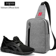 Mua Combo Túi Messenger Thời Trang Glado Dcg026 Xam Giay Sneaker Nam Zapas Gz024 Mau Đen Đế Đen Cb269 Zapas Nguyên