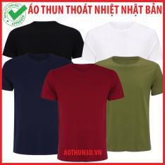Combo5 Ao Thun Trơn Nam 100 Cotton Ao Thun Nam Cổ Tron Mềm Mịn Khang Khuẩn Rẻ