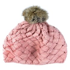Giá bán Cute Baby Kids Girls Toddler Winter Warm Knitted Crochet Beanie Hat Cap Pink - intl