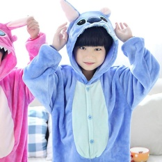 Hình ảnh Màu Xanh dễ thương Thời Động Vật Bộ Đồ Ngủ Homewear Trẻ Em Anime Onesie Hoạt Hình Trang Phục Hóa Trang cho Bé Trai Bé Gái-quốc tế