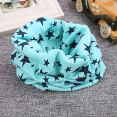 Cyber Fashion Kids Long Warm Stars Printed Snood Outdoor Neck Warmer ( Light Blue ) - Intl By Happydeal365.