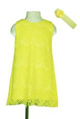 Mua Đầm Ren Chữ A Băng Đo Be Gai 2 9 Tuổi Tri Lan Dbg049 Vang Chanh Rẻ