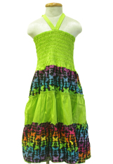 Đầm váy 2 trong 1 kết hợp cho bé gái 5-12 tuổi Tri Lan (Xanh lá) DBG018