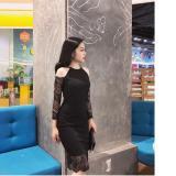 Bán Đầm Nữ Body Cổ Yếm Phối Tay Ren Sang Trọng Fashion Shop Có Thương Hiệu Nguyên