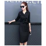 Đầm Cổ Vest Cột Nơ Eo Misa Fashion Ms284 Đen Be Hồ Chí Minh Chiết Khấu 50