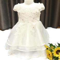Giá bán Đầm công chúa xinh cho bé gái từ 8 đến 25 kg - Trắng