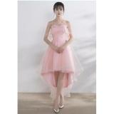 Đầm Dự Tiệc Cup Ngực Xoe Đuoi Tom Kem Lưới Choang Hana Fashion Hồng Kem Mới Nhất