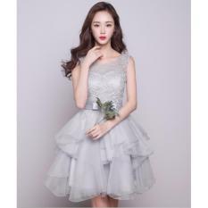 Hình ảnh Đầm Dự Tiệc Nữ Xòe Công Chúa Hana Fashion 056 ( xám)