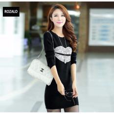 Mua Đầm Giữ Nhiệt Dai Tay Rozalo Rw2839Bs Đen Bạc Hà Nội