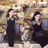 Mua Đầm Nữ Om Body Phối Lưới Nhun Ren Ngực Fashion Shop Trong Hồ Chí Minh