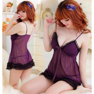 Đầm ngủ 2 dây quyến rũ midnight Chodeal24h (tím than) thumbnail