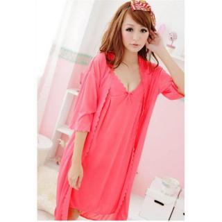 Đầm ngủ kèm áo khoác Trung Niên Thun mát Chodeal24h (tím) thumbnail